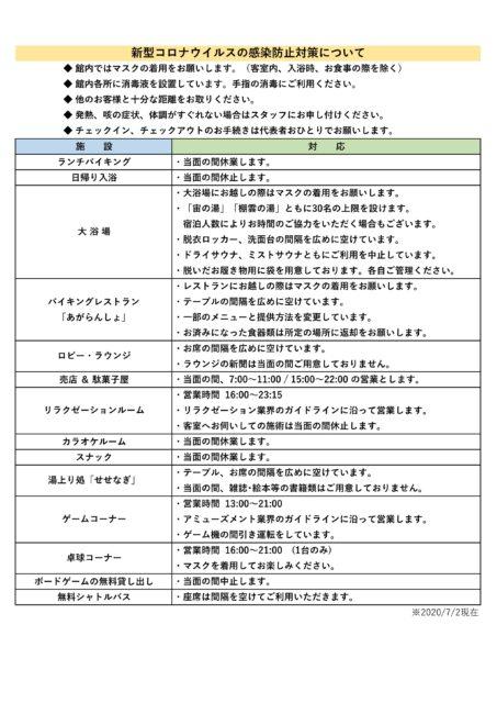 【東鳳】新型コロナウイルス感染防止対策0702