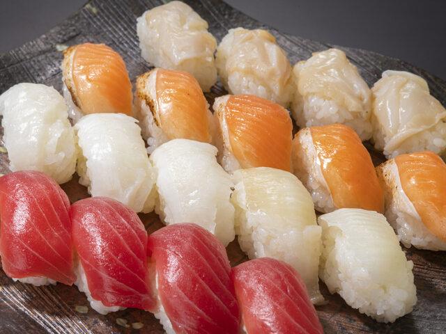 トラウトサーモンはらす炙り_握り寿司