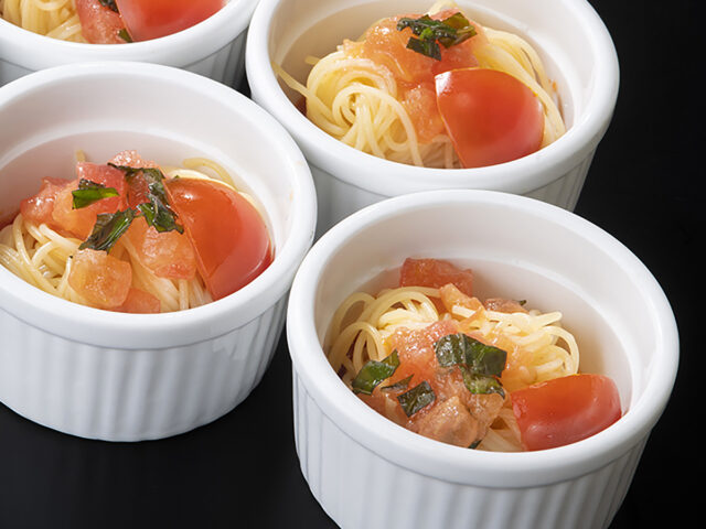 トマトソース冷製パスタ